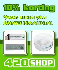Alleen voor leden korting op 420shop.nl